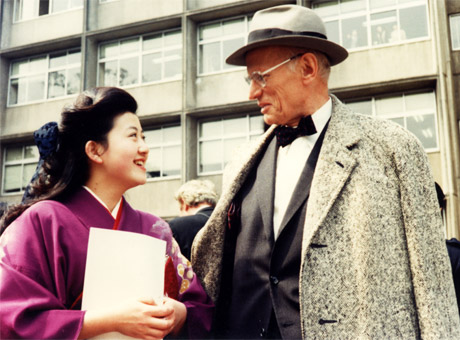 Jean Laurent with master pupil Yasuko Oktani (a students' party of the