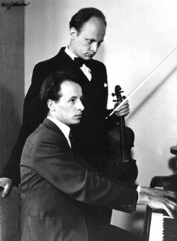 The Eugène Traey (piano) and Jean Laurent (violin) Duo, in 1941