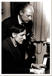 Jean Laurent with the pianist Hellmut Hideghéti, Munich 1961