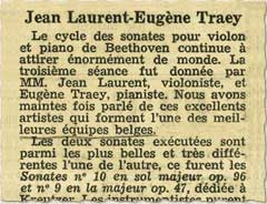 »Le soir« dated 10.2.1950