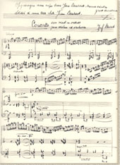 "Autograph of the ""Concerto voor Viool en orkest"", dedicated to Jean Laurent, first performance in March 1951"